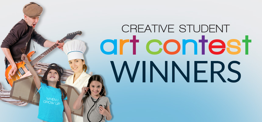 "Creative Student Art Contest 2019 Winners - ""When I Grow Up"""