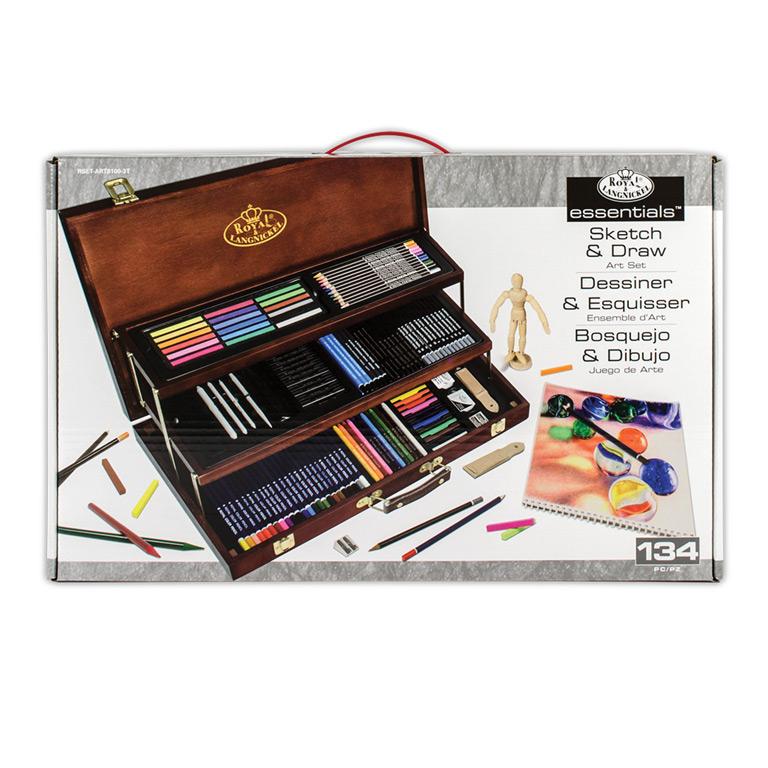 Royal Langnickel Essentials Sketching Art Set 58 Pc