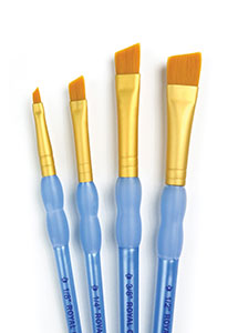 ROYAL /& LANGNICKEL RCC White Taklon Round Brush 4 Piece Set RCC220
