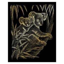 Royal and Langnickel Gold Engraving Art Koala Bears