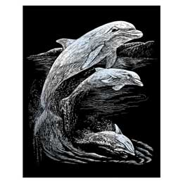 Royal /& Langnickel Silverfoil Scraper SILF23 Wolves in Trees