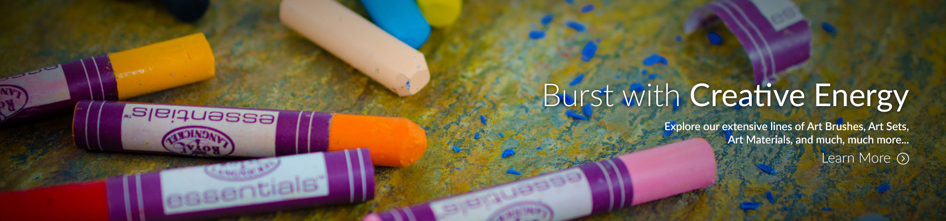 Burst with Creative Energy. Explore our extensive lines of Art Brushes, Art Materials, Art Sets and much more.