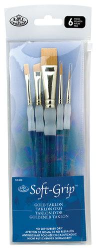 Size 2 Royal /& Langnickel Soft-Grip Combo Round Brush