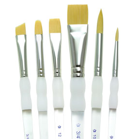 ROYAL BRUSH SG160-3//8 in Royal /& Langnickel Soft-Grip Angular Shader Paintbrush 3//8 inch, Gold Taklon